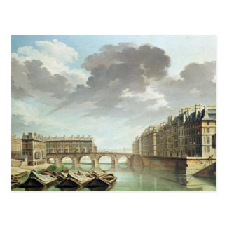The Ile Saint-Louis and the Pont Marie in 1757 Postcard