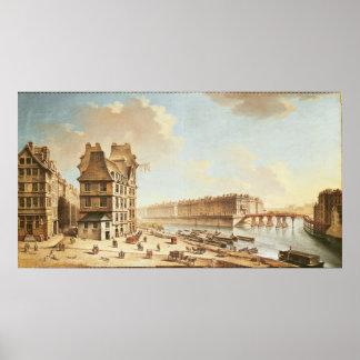 The Ile Saint-Louis from the Place de Greve Poster