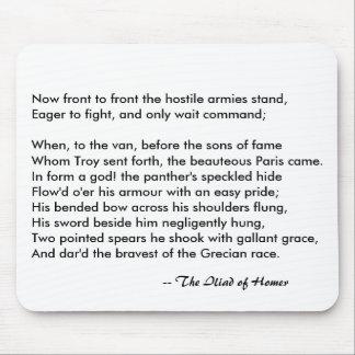 The Iliad of Homer Troy Paris Hostile Armies Mouse Pad