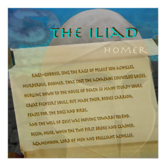 The Iliad scroll image text Poster