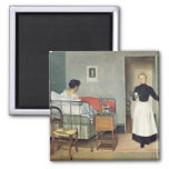 The Ill Child  1892 2 Inch Square Magnet