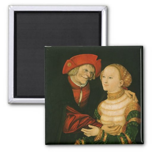 The Ill-Matched Couple 2 Inch Square Magnet