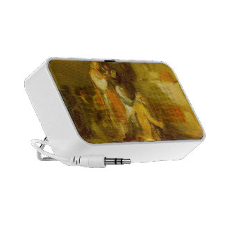 The ill matched Couple by Francisco Goya Portable Speakers