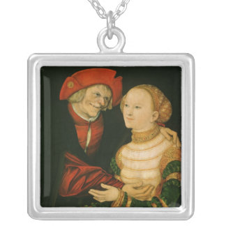 The Ill-Matched Couple Silver Plated Necklace