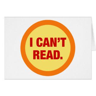 The Illiteracy Epidemic Card