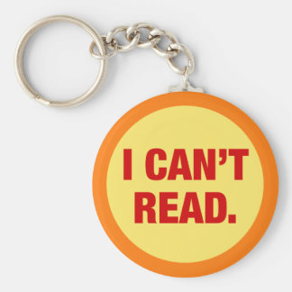 The Illiteracy Epidemic Basic Round Button Keychain