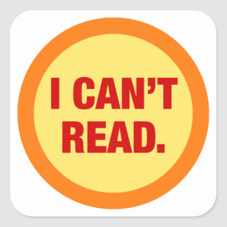 The Illiteracy Epidemic Square Sticker