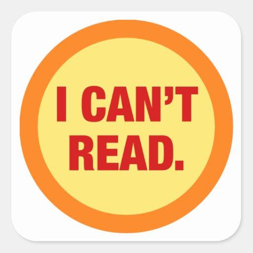 The Illiteracy Epidemic Square Sticker