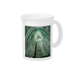 The Illuminati Eye Beverage Pitcher