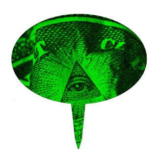 The Illuminati Eye Cake Topper