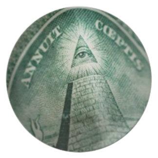 The Illuminati Eye Dinner Plate