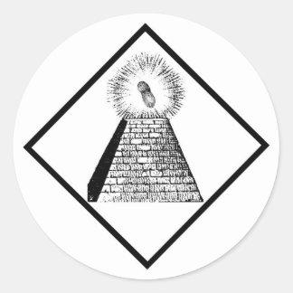 The Illuminutty Classic Round Sticker