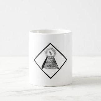 The Illuminutty Classic White Coffee Mug