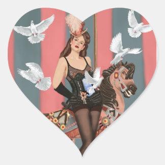 The Illusionist Heart Sticker