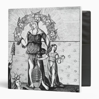 The Image of Dame Astrology with the Three Vinyl Binders