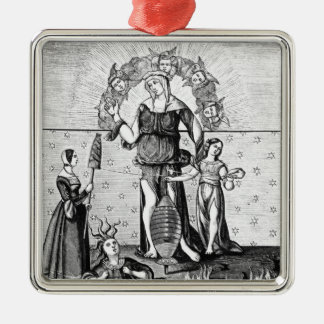 The Image of Dame Astrology with the Three Metal Ornament