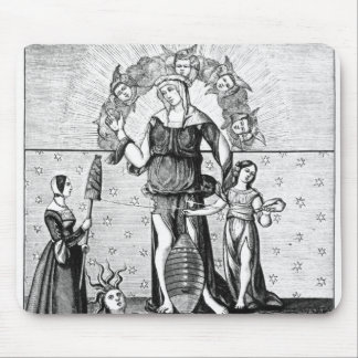 The Image of Dame Astrology with the Three Mouse Pad