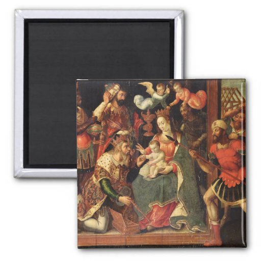The Image of the Adoration of the Magi 2 Inch Square Magnet