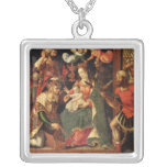 The Image of the Adoration of the Magi Square Pendant Necklace