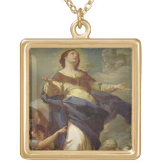 The Immaculate Conception 2 Square Pendant Necklace