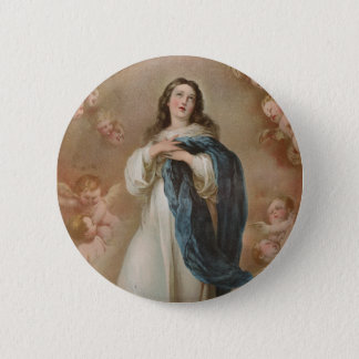 The Immaculate Conception by American Lithographic Pinback Button