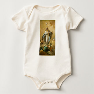 The Immaculate Conception by Giovanni B. Tiepolo Baby Bodysuit