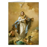 The Immaculate Conception by Giovanni B. Tiepolo Greeting Card