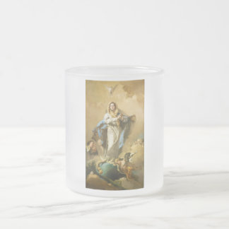 The Immaculate Conception by Giovanni B. Tiepolo 10 Oz Frosted Glass Coffee Mug