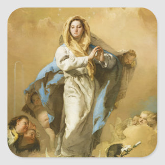The Immaculate Conception by Giovanni B. Tiepolo Square Sticker