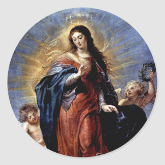 The Immaculate conception Classic Round Sticker