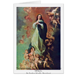 The Immaculate Conception Of The Venerable Ones Card