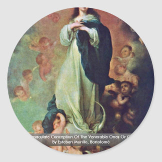 The Immaculate Conception Of The Venerable Ones Sticker