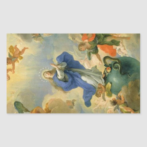 The Immaculate Conception Rectangular Sticker