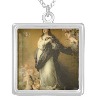 The Immaculate Conception Square Pendant Necklace