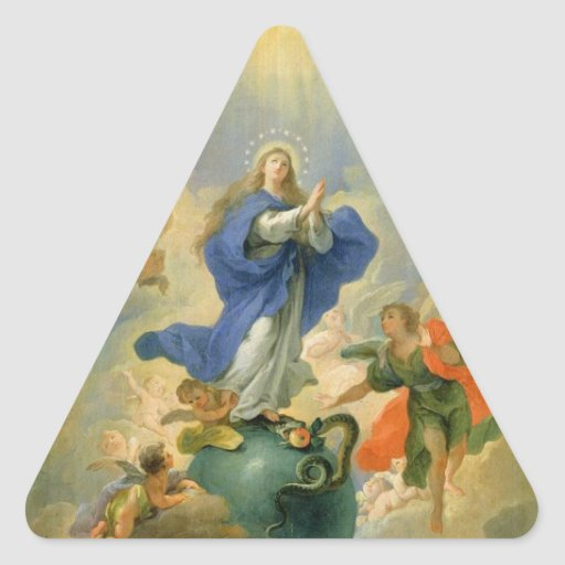 The Immaculate Conception Triangle Stickers