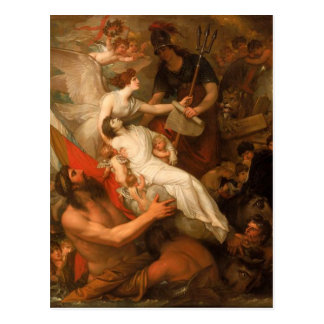 The Immortality of Nelson by Benjamin West Postcard