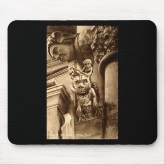 The Imp Gothic Cathedral 1912 Vintage Mouse Pad