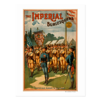The Imperial Burlesquers Female Soldiers Play Postcard