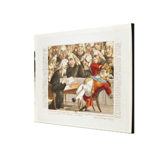 The Imperial Decree to George III Canvas Print