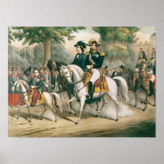 The Imperial Family on Horseback Poster