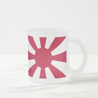 The Imperial Japanese Navy leader flag Frosted Glass Coffee Mug