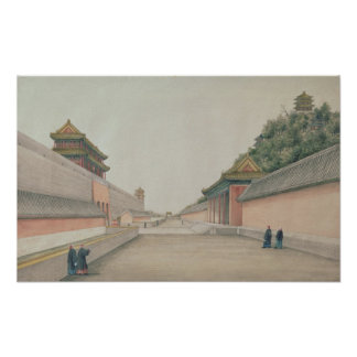 The Imperial Palace in Peking Poster