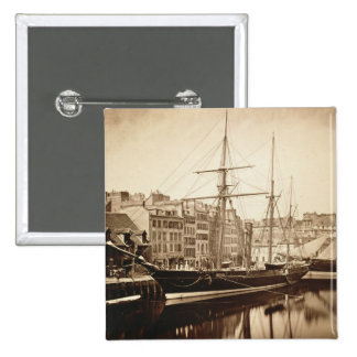 The Imperial Yacht 'La Reine Hortense' at Le Havre 2 Inch Square Button