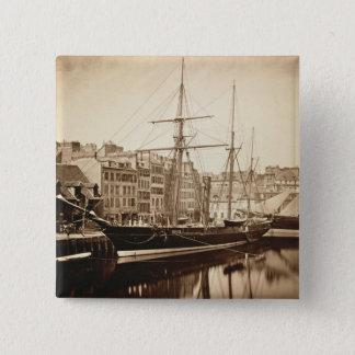 The Imperial Yacht 'La Reine Hortense' at Le Havre Pinback Button