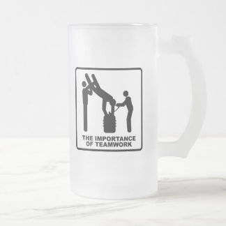 The Importance Of Teamwork Frosted Glass Beer Mug