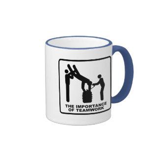 The Importance Of Teamwork Ringer Mug