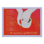 The Importance of What is Not Art Print