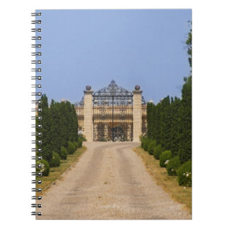 The imposing entrance to Chateau Haut Sarpe, the Spiral Notebook