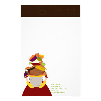 The Impossible Thanksgiving DInner Custom Stationery