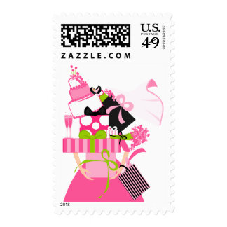 The Impossible Wedding Stack Postage Stamp
